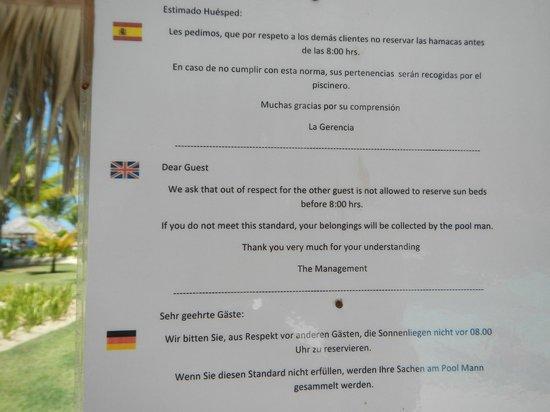 TRS Turquesa Hotel: Towel game ending
