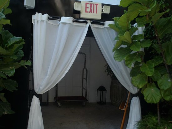 Metropole Apartments: Entrance to pool/relaxing area....