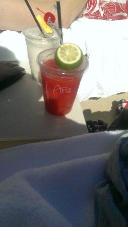 ARIA Resort & Casino: Fantastic Strawberry Daiquiri at the pool