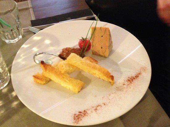 Restaurant La Villa : entrée foie gras
