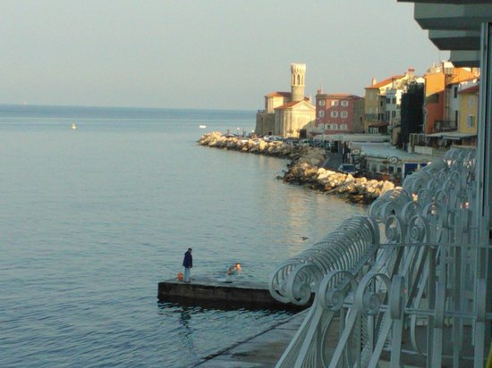 Hotel Piran: view from bedroom