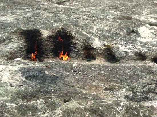 Chimaera: natural fire from the mountain