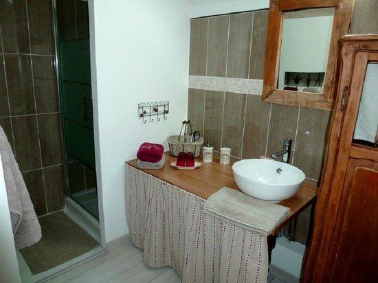 La Grange de la Guesle : Chambre Campagne Salle de bain