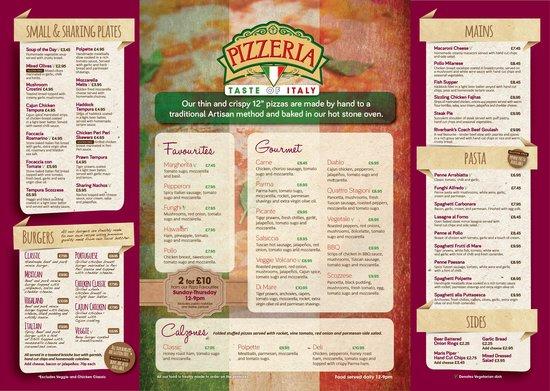 Riverbank Bar and Restaurant : main menu 2014