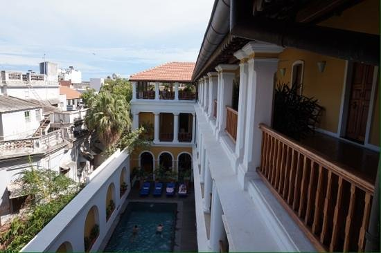 Palais de Mahe : view from outside room 306
