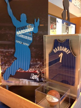 Amway Center: Penny Hardaway among the Players featured in the Historical Exhibit. Very cool to see!