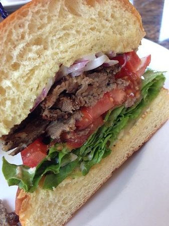Zov's Cafe Bakery & Bar: grilled lamb sandwich