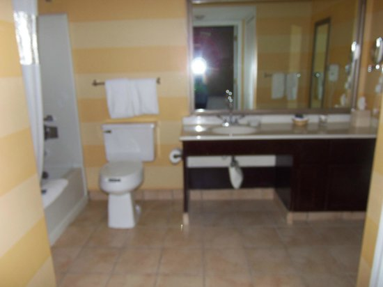 Hawthorn Suites by Wyndham Dayton North : Huge Bathroom