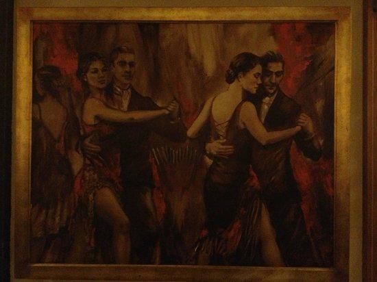La Fonda del Puertito: Belo quadro na parede do restaurante