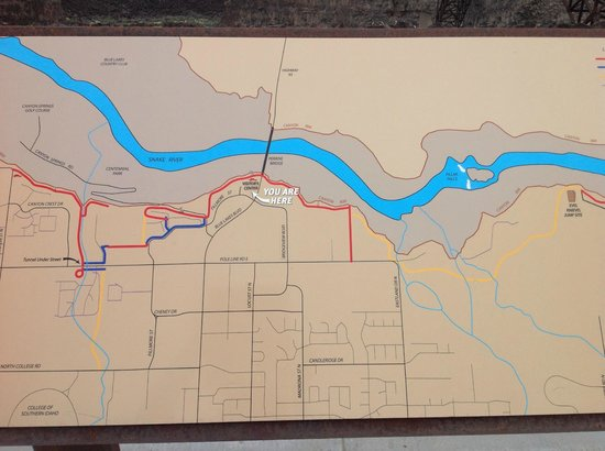 Snake River Canyon Trail: tourist map