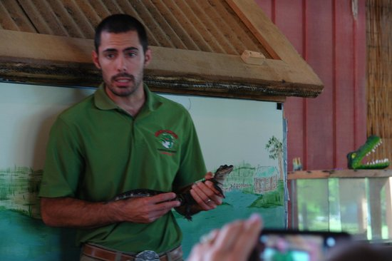 Insta-Gator Ranch : Royce with a baby gator