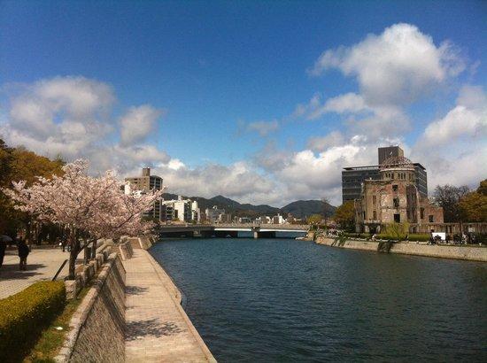 Hiroshima Peace Memorial Park : Cherry blossom in Hiroshima.