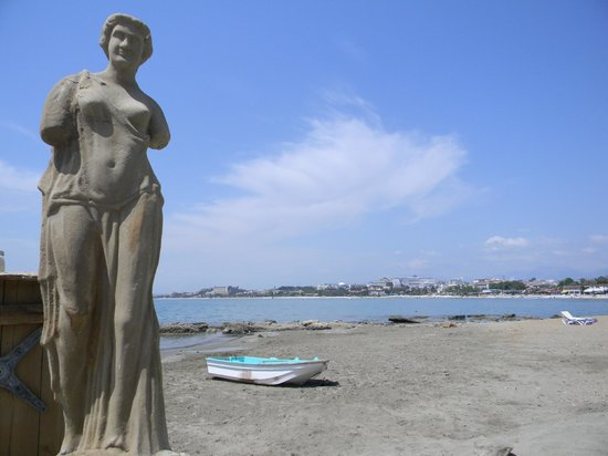 Leda Beach Hotel: The beach.
