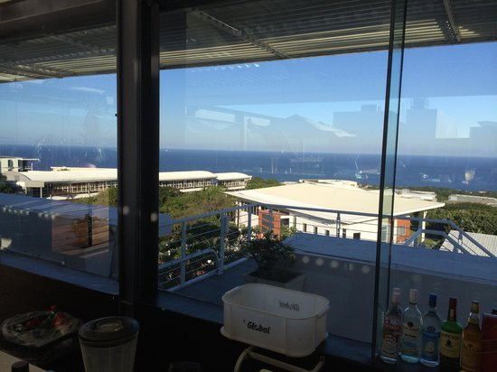 The Square Boutique Hotel & Spa: View from Roof Top Bar down on Umhlanga