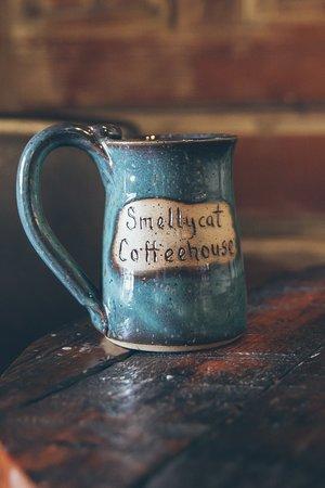 Smelly Cat Coffee House Handmade Ceramic Mug