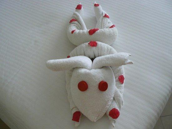 Xperience Sea Breeze Resort: Housekeeping towel design