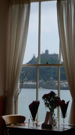 St. Michael's Mount: The Godolphin Arms' restaurant overlooks the Mount