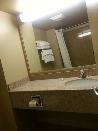 Country Inn & Suites By Carlson, Niagara Falls, ON : Sink and rest of the bathroom (room 516)