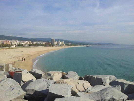Hotel Atenea Port Barcelona Mataro: Stranden