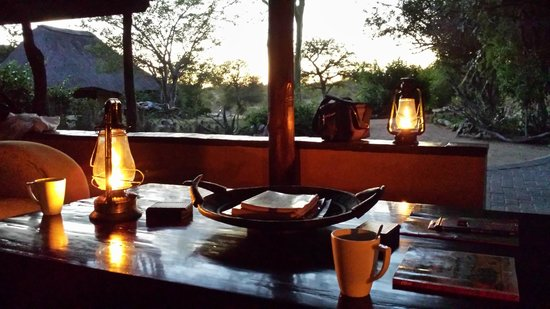Kambaku Safari Lodge: Morning coffe