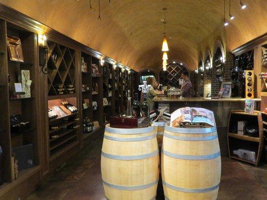 The Meritage Resort and Spa: Inside Wine Cellar