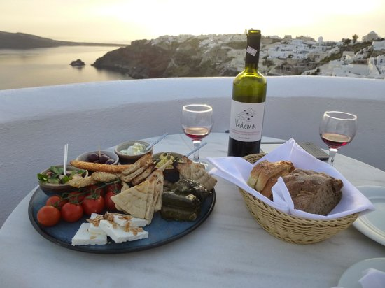 Ikies - Traditional Houses: More delicious food during the sunset.