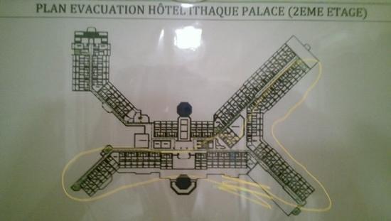 Djerba Mare : piantina stanze 2.do piano. in giallo stanze consigliate