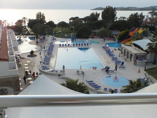 Batihan Beach Resort & Spa: zeezicht vanop 3de verdieping