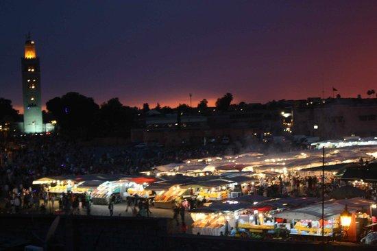 Riad Andalla: Vue de la terrasse