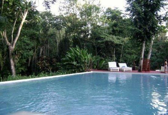 La Cantera Jungle Lodge: vista de la pileta con la selva Iriapu atras