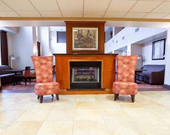 Hampton Inn & Suites Blairsville at Chestnut Ridge: Fireplace