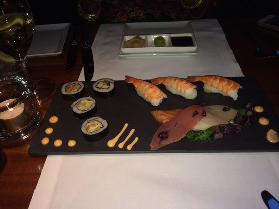 Restaurant Bam Bou by Thomas: Sushi for starters