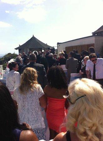 Bournemouth Highcliff Marriott Hotel: Gazebo wedding ceremony