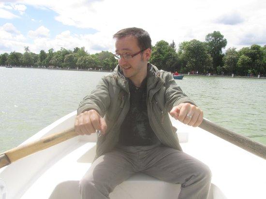 Parque del Retiro: paseo en barca