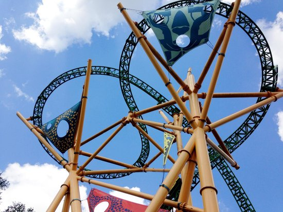 Jardines Busch: many different roller coasters to choose from