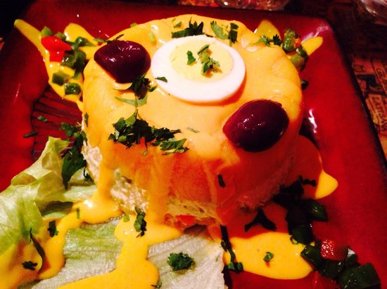El Gaucho Inca: Potato appetizer. Served cold. Yum!