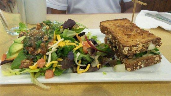 First Watch: Grilled veggi sandwich with salad