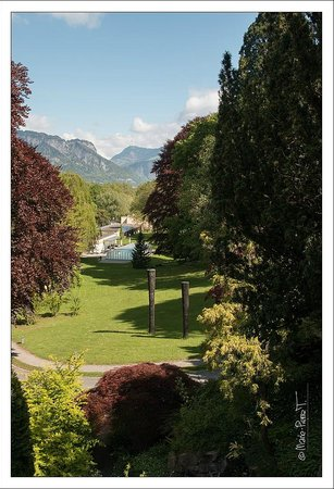 Hotel Schloss Ragaz: les chambres du parc et la piscine