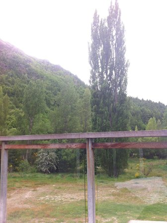 The Arrow Private Hotel: Looking out to poplars