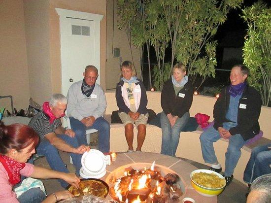 My Place Suites: Firepit gatherings