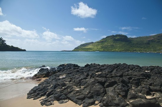 Kaua'i Marriott Resort: Kalapaki Beach looking towards the Pacific Ocean