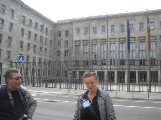 Original Berlin Walks: Caroline outside the Nazi Air Ministry.