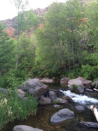 Oak Creek Terrace Resort: Creek behind property