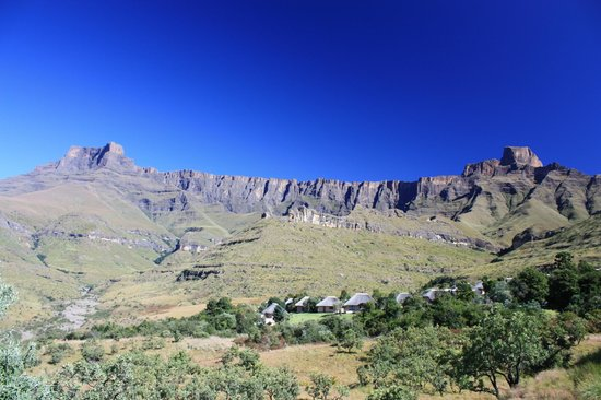 Thendele Hutted camp: View from the Upper Camp Chalets