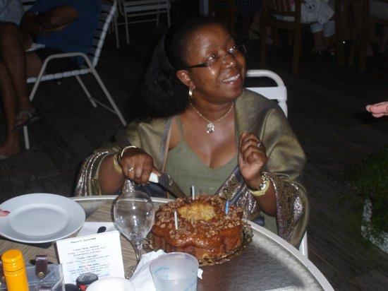 Firefly Bar & Grill: my birthday rum cake
