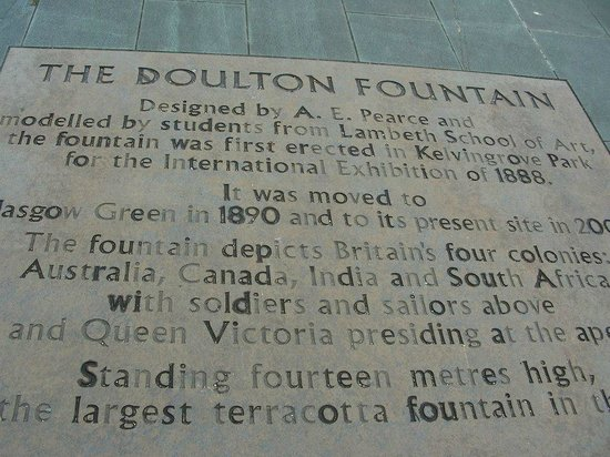 People's Palace and Winter Gardens : description of Doulton fountain