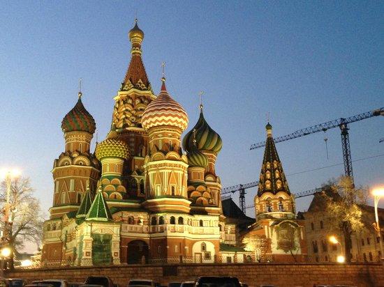 Basilius-Kathedrale: Anoitecer, nuances de cores