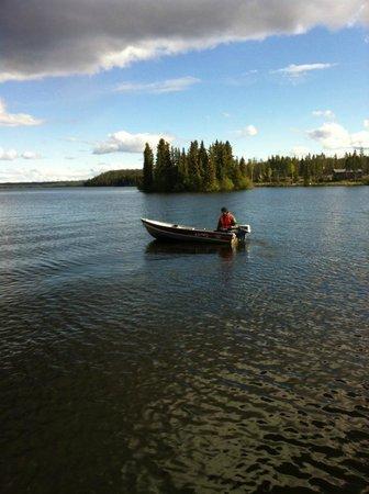 Nimpo Lake Resort: Ich beim Angeln.