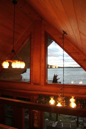 Nimpo Lake Resort: Aussicht aus der oberen Etage der Pioneer Cabin