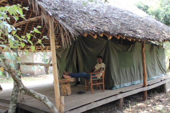 Enchoro Wildlife Camp: Resting out of tent